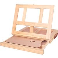Desktop drawer oil painting rack Wooden small easel portable desktop oil painting box / desktop easel / sketch easel