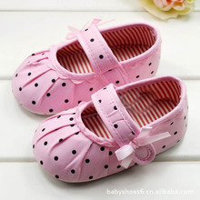 2016 Hot Sale Baby Children s Girl First Walkers Shoes Polka Dot Toddler Infant Girls Soft