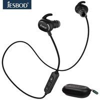 Jesbod QY13 Magnetic Wireless Sport Earbuds Bluetooth V4 1 Noise Cancelling Stereo Headset With Mic Sweatproof