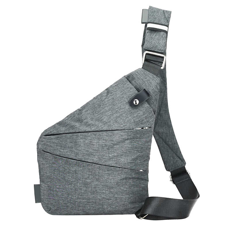 1ddde38dd12c New Fashion Men Canvas Chest Messenger Crossbody Bag Casual Simple Single  Anti Theft Shoulder Bag Male
