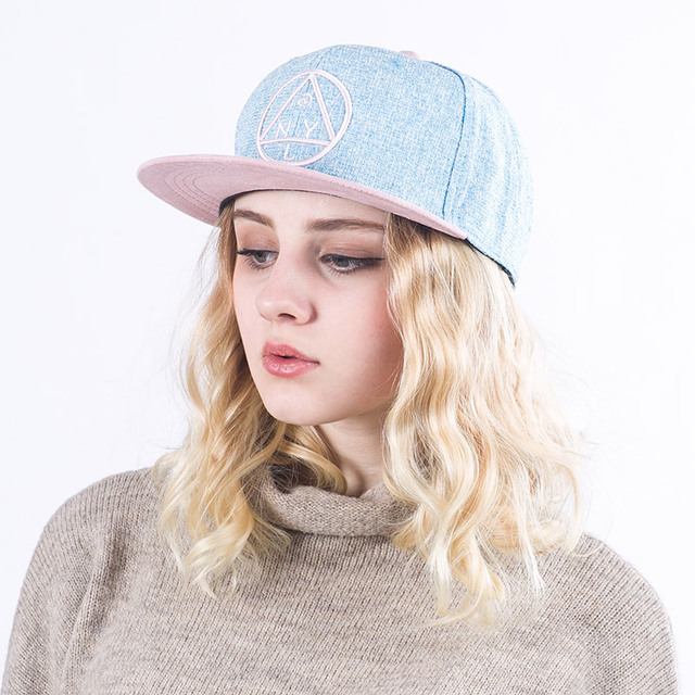 Quality Snapback cap NY round triangle embroidery flat brim baseball cap  youth hip hop cap and hat for boys and girls a533d567007e