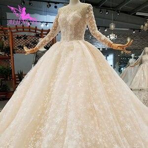 Image 5 - AIJINGYU nowoczesne suknie ślubne suknie podkoszulek letnie małżeństwo Vintage Brush suknie ślubne dla panny młodej