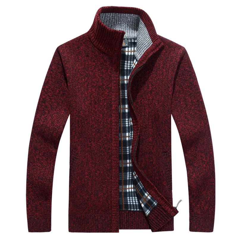 New Winter Sweater Men Cardigan Thick Warm Fleece Turtleneck Men Sweater Cashmere Wool Cardigan Sweater Men Sueter Hombre XXXL
