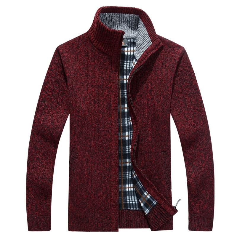 New Winter Sweater Men Cardigan Thick Warm Fleece Turtleneck Men Sweater Cashmere Wool Cardigan Sweater Men Sueter Hombre XXXL