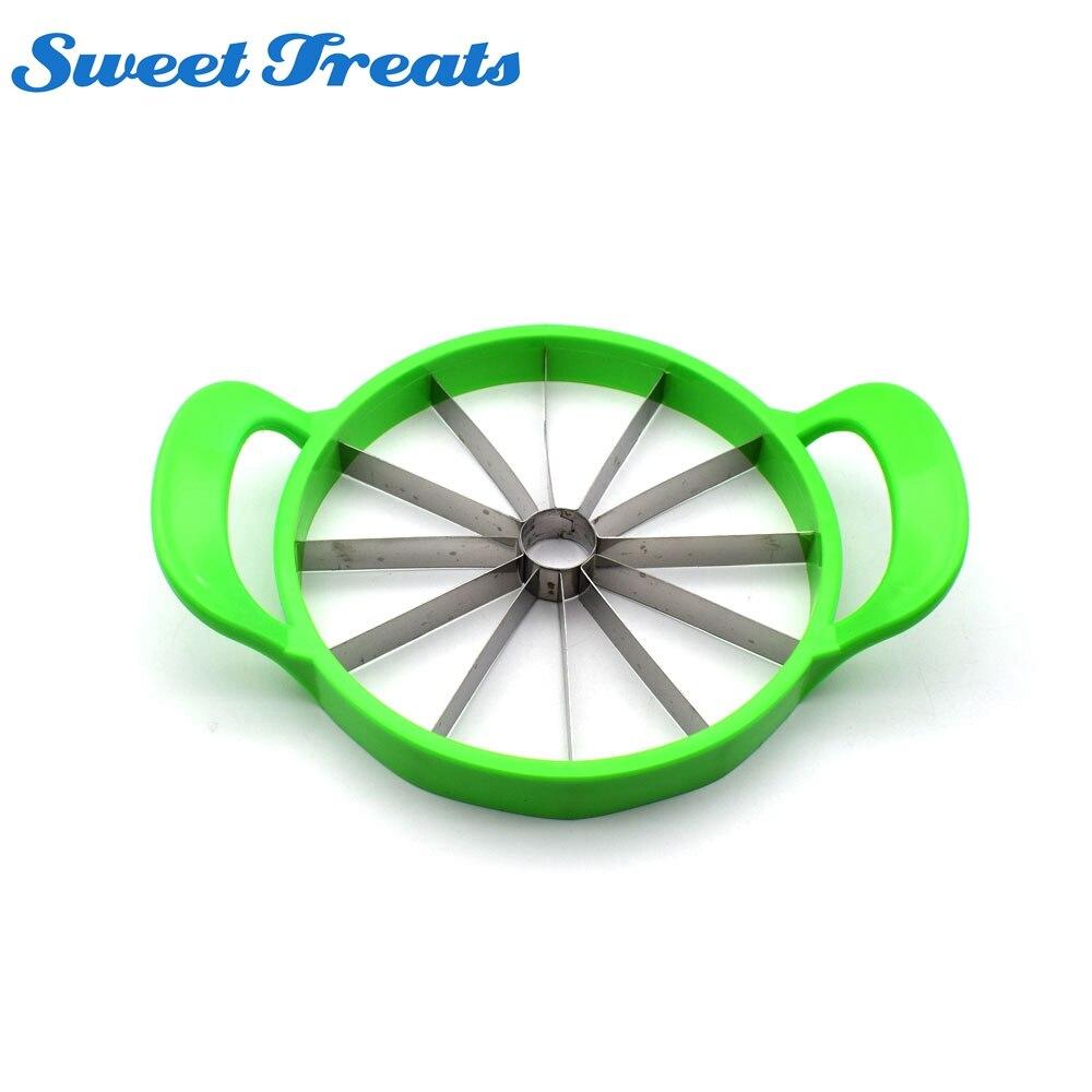 Sweettreats sandía cortador cocina conveniente herramientas de corte sandía Cantaloupe cuchillo de la fruta