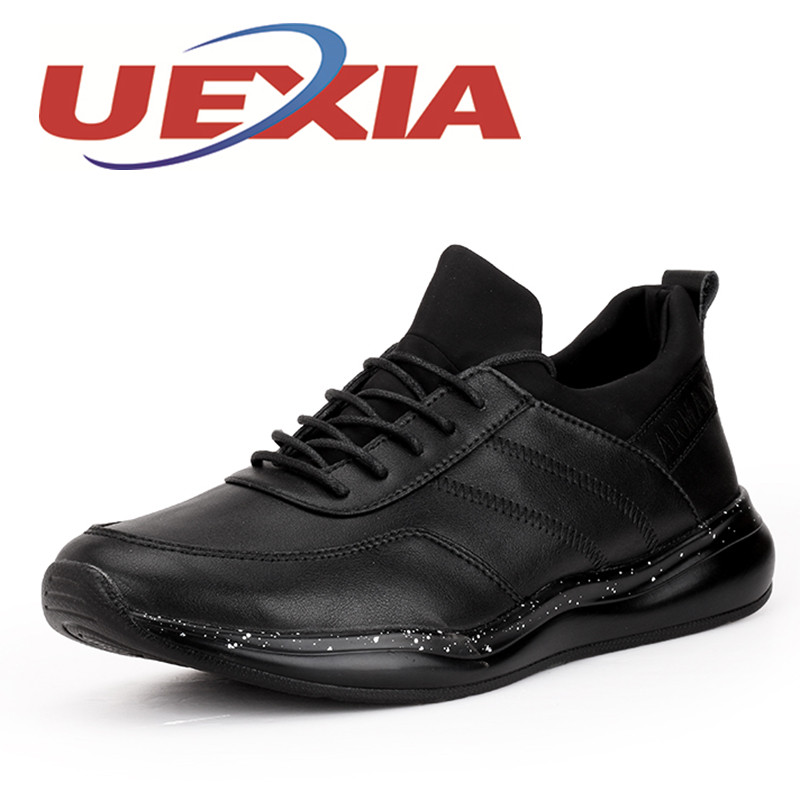 Men Casual Shoes Summer Pu Leather Sport Flat Walking Lace Up Shoe Mens Trainers Basket Zapatilla Hombre Comfortable Sneakers