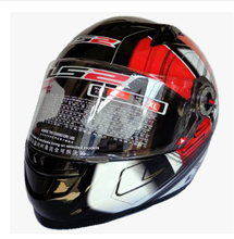 Free shipping high-grade genuine original LS2 FF358 motorcycle helmet safety helmet full helmet Racing / Red universe