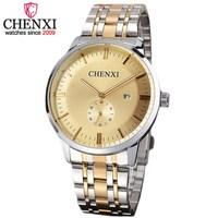 NATATE Fashion Brand Men Sports Watch Date Stainless Steel Quartz Watch Clock Men CHENXI Waterproof Dress