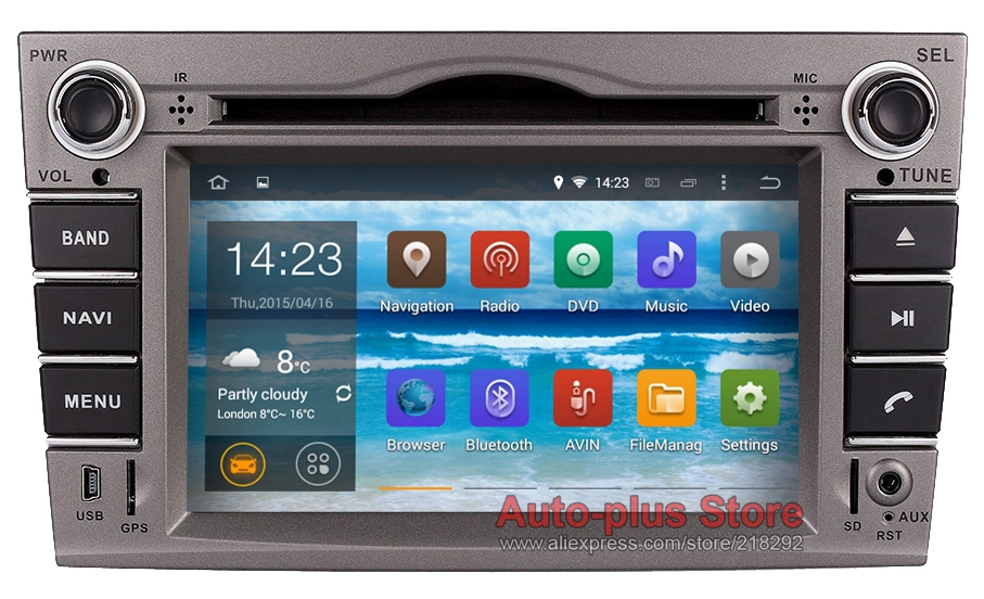 Double Din Quad Cores CPU 7 inch 1024*600 Android 4.4.4 Car DVD GPS Vauxhall Opel Astra H G J Vectra Antara Zafira Corsa - Auto-plus Store store