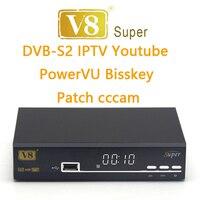 2018 Digital V8 super ricevitore satellitare supporto Full 1080 p dvb-s2 powervu dre e bisskey webtv iptv youtube