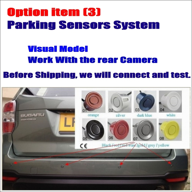 Option Item Car Parking Sensor Assistance System - Dual Core / 4 Radars / Visible Model / Work with Rear View Camera
