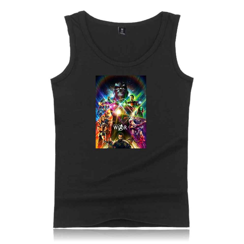 Summer Casual Cotton Shirts Avengers Infinity War Tank Tops Slim Fit Fashion Tops Tees Male Clothing Avengers Infinity War