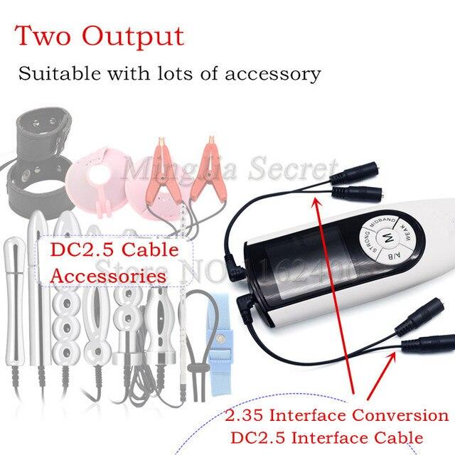 2020 son USB şarj çift çıkışlı elektrik çarpması Host aksesuarları elektro şok DIY güç kutusu yetişkin seks çiftler için oyuncaklar