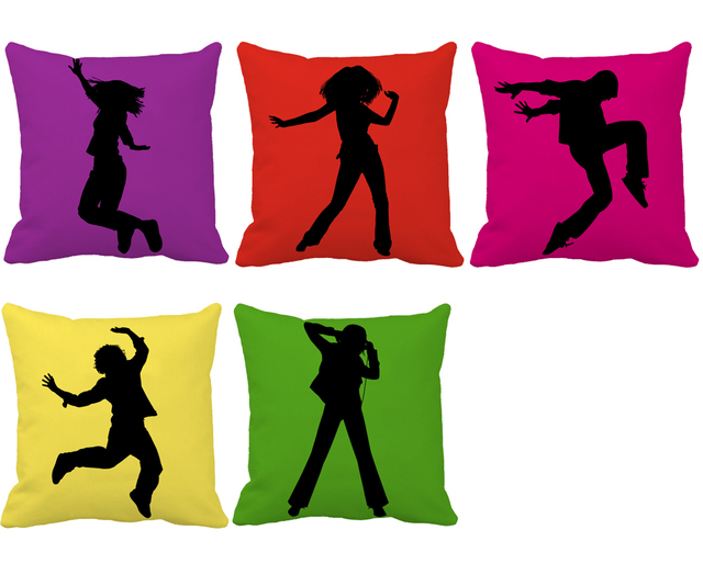 Dancing Youth Series Print Custom Funky Cushions For Sofa Car Chair Adorable Funky Decorative Pillows