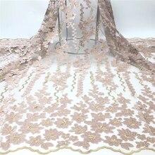 Tollola Африканский сетка кружевной ткани высокое качество кружева вышитые в нигерийском стиле французский гипюр кружевная тюль ткань для женское платье