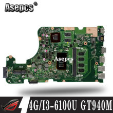 X555UQ Motherboard Laptop UNTUK For Asus X555UJ X555UF F555U X555UB X555UQ X555U Mainboard 90NB0DG0-R00030 4G/I3-6100U CPU GT940M(China)