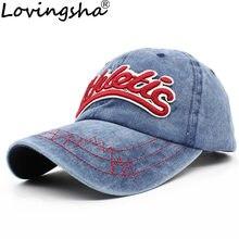 Lovingsha diseño de letra chica ajustable del casquillo del Snapback HipHop  Denim verano hombres gorra de béisbol Unisex sombrer. e6309fd908a