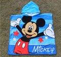 Venta al por mayor azul mickey toalla microfibra toallas albornoz toalla de Playa piscina para los niños de dibujos animados de comercio exterior (120*60 cm)