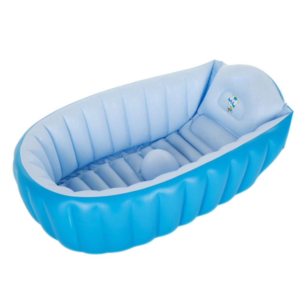 portable children bathtub 95x60x35cm kids baby air inflatable swimming pool soft bathtub paddling pool folding portable