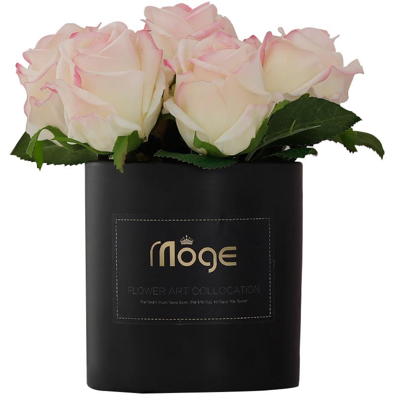 20 см для свадьбы искусственные цветы, шелковые стразы, украшение для дома, букет цветов, растения, Западный Роскошный подарок - 2