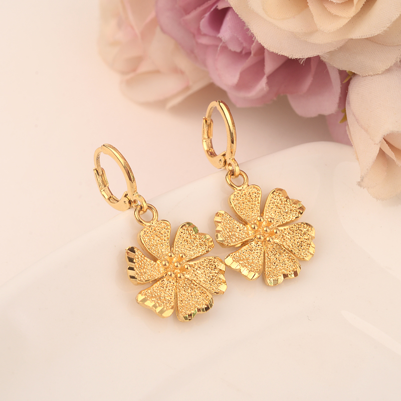 581b54bc9db Company Alibaba Webesite  www.bangjewelry.en.alibaba.com Bangrui flower  Earrings for Women Girls Gold Color cute Earing Jewelry Gifts African