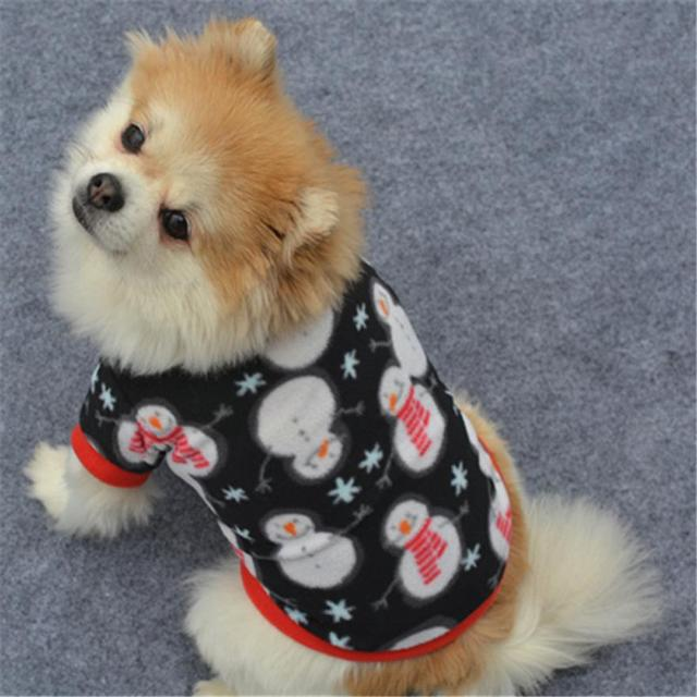 New Qualified Blending Christmas Pet Puppy Snowman Warm Pullover High-grade Embroidered Clothes small dog & New Qualified Blending Christmas Pet Puppy Snowman Warm Pullover ...