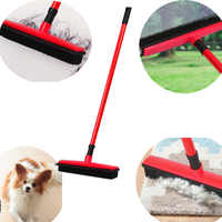 Balai à poils de sol grattoir à poussière et brosse en caoutchouc pour animaux de compagnie