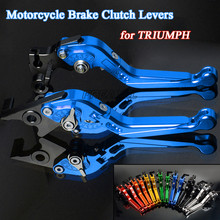 Motorbike Levers Foldable Extendable Motorcycle Brake Clutch For TRUIMPH 675 CALLE R TRIPLE RX STREET DAYTONA SPEED