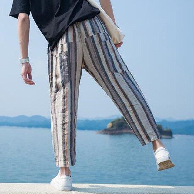Autumn Calf Length Men Baggy Pants  1