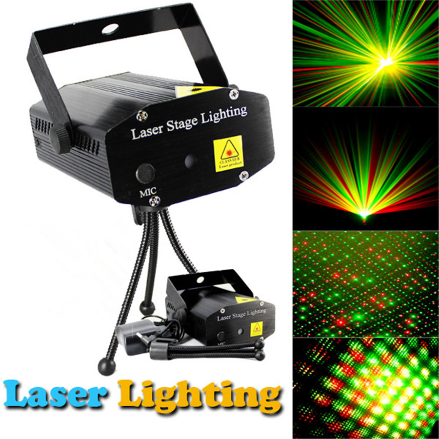 Portable multi LED bulb Voice-activated Stage Lights mini black stage Lighting Effect DJ Party Home Wedding Laser Projector rg mini 3 lens 24 patterns led laser projector stage lighting effect 3w blue for dj disco party club laser
