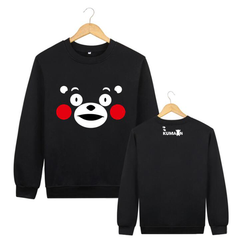 Cute Kumamon T-shirt Cosplay Costume Spring Autumn Long Sleeve T Shirt Daily Casual Pullover Sweatshirt Hoodie