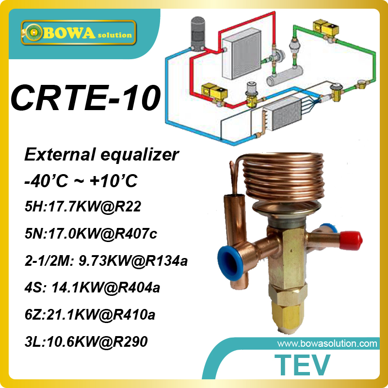 CRTE-10 R134a 5 cooling ton TVX with welding connection replace Alco TX3, TX6 expansion valves 520w cooling capacity fridge compressor r134a suitable for supermaket cooling equipment