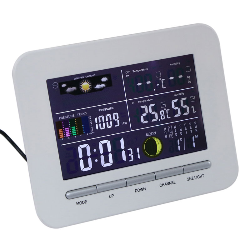 Digital Weather Station Wireless Color Display Temperature Thermometer Hygrometer HygromeIndoor&Outdoor Thermometer Humidity