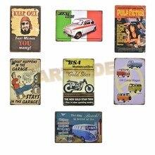 Домашний Декоративный винтажный Ретро пиратский Декор металлический знак, вывеска, Фиат, BSA мотоциклы жестяные знаки