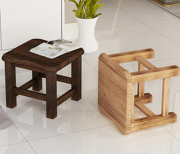 29.5*29.5*25.5CM Solid Wood Stool Children Shoes Stool Sofa Foot Stool 17 styles shoe stool solid wood fabric creative children small chair sofa round stool small wooden bench 30 30 27cm 32 32 27cm