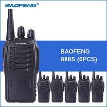 6 шт./лот Baofeng bf888S портативной рации 5 Вт 1500 мАч BF-888S двусторонней радиосвязи Communicator Baofeng 888 S портативной рации 2 рации