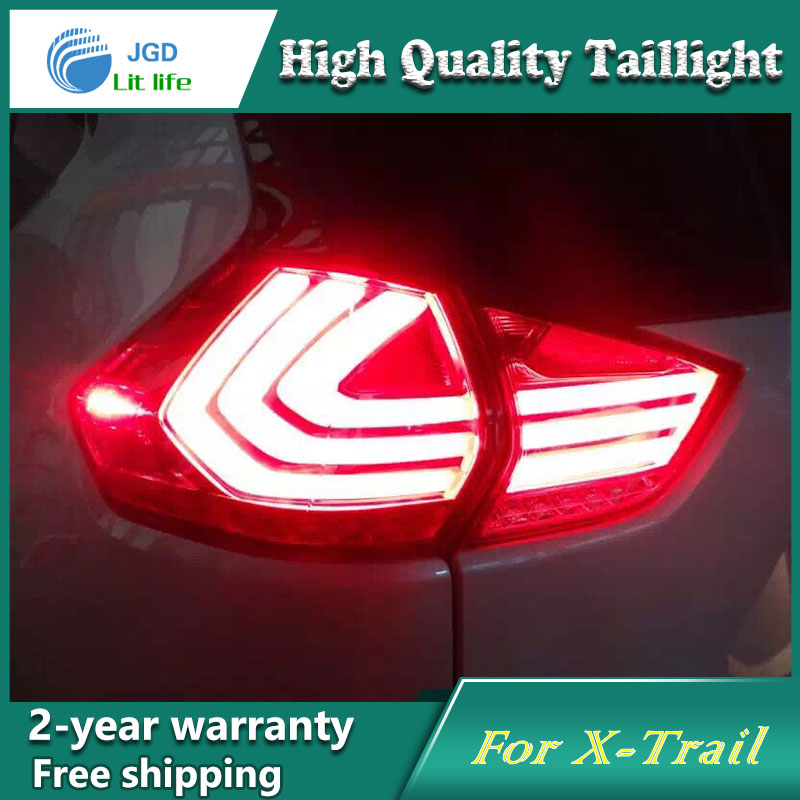 Car Styling Tail Lamp for Nissan X-Trail 2014-2016 Tail Lights LED Tail Light Rear Lamp LED DRL+Brake+Park+Signal Stop Lamp jgd brand new styling for nissan s15 tail lights 1999 2014 led tail light rear lamp led drl singal car lights
