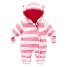 Wholesale 5 pcs Per Pack Newborn Body Baby Girl Winter Clothes Infant baby girl thick Winter Pajamas