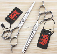 6 0Inch Kasho Professional Barbers Cutting Scissors And Thinning Scissors Kits Human Hair Scissors For Salon