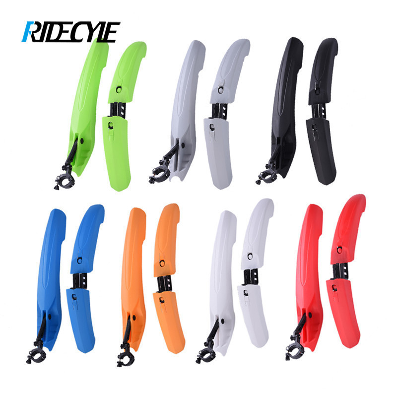 RIDECYLE Bicycle <font><b>Fender</b></font> with LED Light Mountain Cycling Front Rear Bicycle Durable <font><b>Fenders</b></font> With LED Light Plastic Bike <font><b>Fender</b></font>