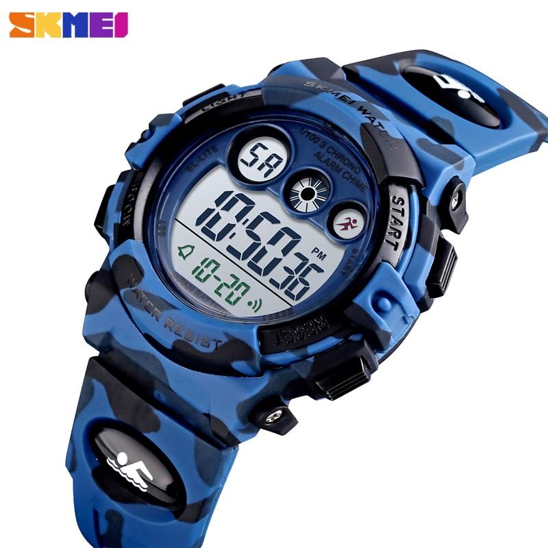 SKMEI Children Watch Fashion Kids Sport Watches Chronograph Digital Wristwatch For Boy Alarm Clock Childrens Bracelet Waterproof