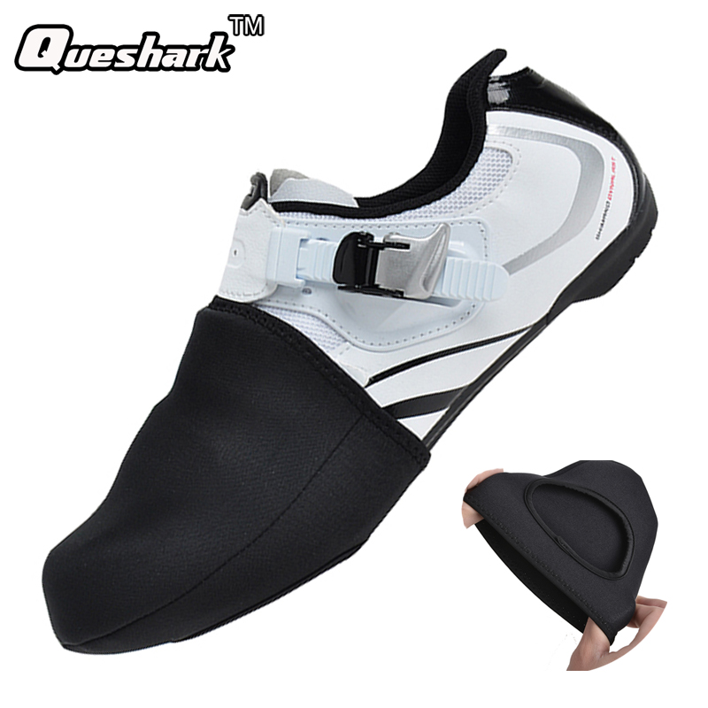 Winter Thermal Semi Palm Cycling Shoes Cover MTB Bike Bicycle Racing Toe Cover Protector Unisex Waterproof SBR Black Overshoes|shoe cover mtb - title=