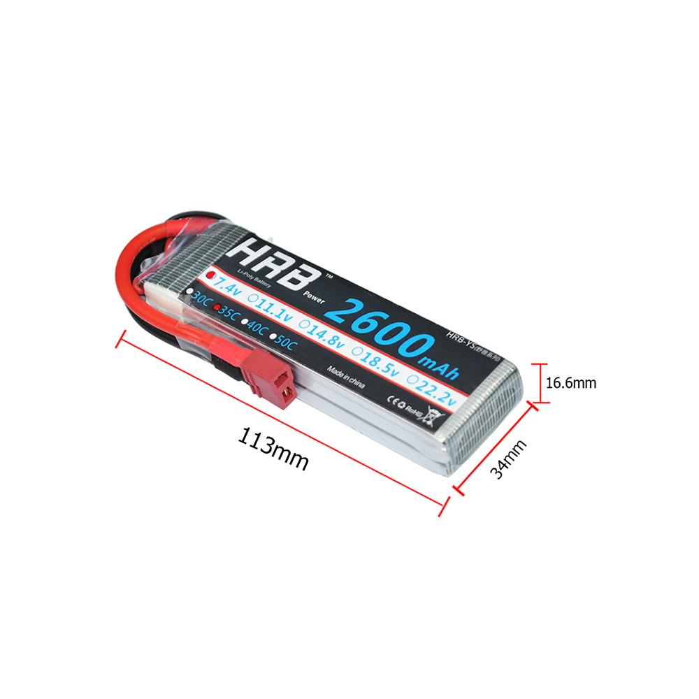 HRB 7.4V 2600mAh 35C 2s Battery Lipo Max 70C with Amass XT60 T EC5 Connector For RC Drone Helicopter Airplane Car Boat FPV mos rc airplane lipo battery 3s 11 1v 5200mah 40c for quadrotor rc boat rc car
