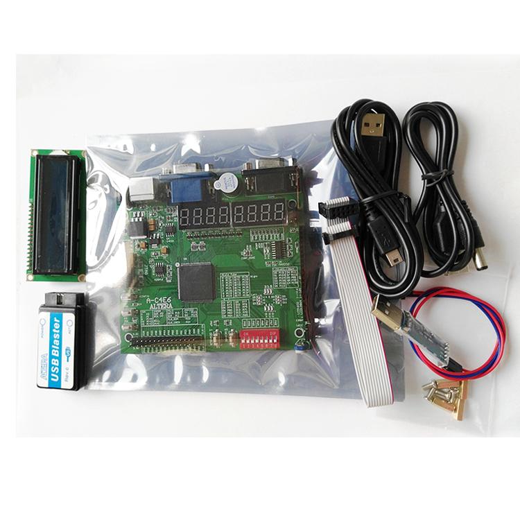 Prix pour A-C4E10 EP4CE10E22C8N + USB BLASTER + LCD1602 altera carte fpga altera conseil altera fpga conseil de développement