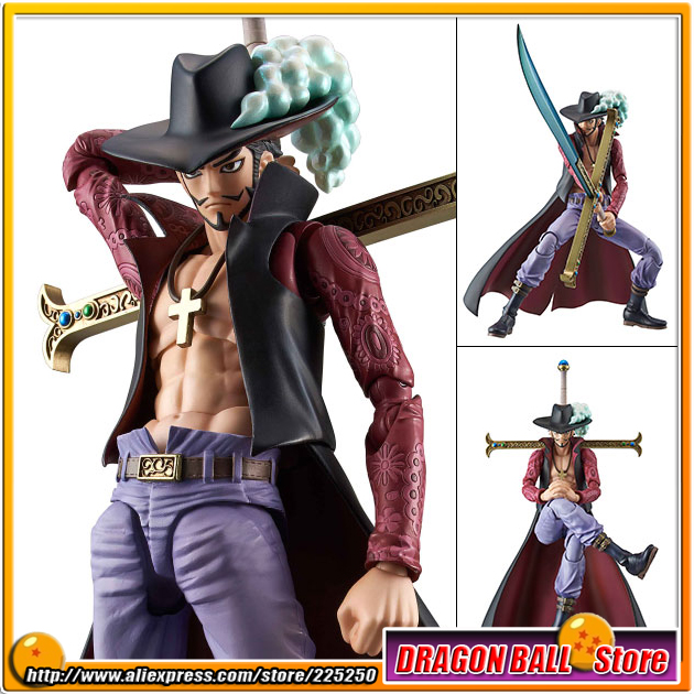 Japanese Anime ONE PIECE Original MegaHouse (MH) Variable Action Heroes Complete Action Figure - Dracule Mihawk anime one piece dracula mihawk model garage kit pvc action figure classic collection toy doll