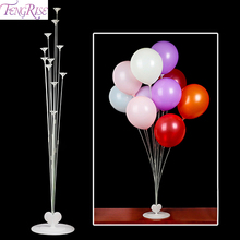 FENGRISE Ballons Accessories Helium Balloon Base Stand metalic Balon Holder For Birthday Child Balonnen
