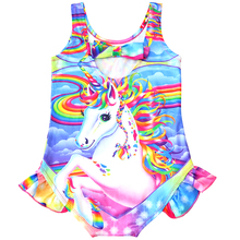 2019 New Toddler Unicorn children swimsuit for girl one piece baby girls unicorn kid bathing suit swimming costume 0335