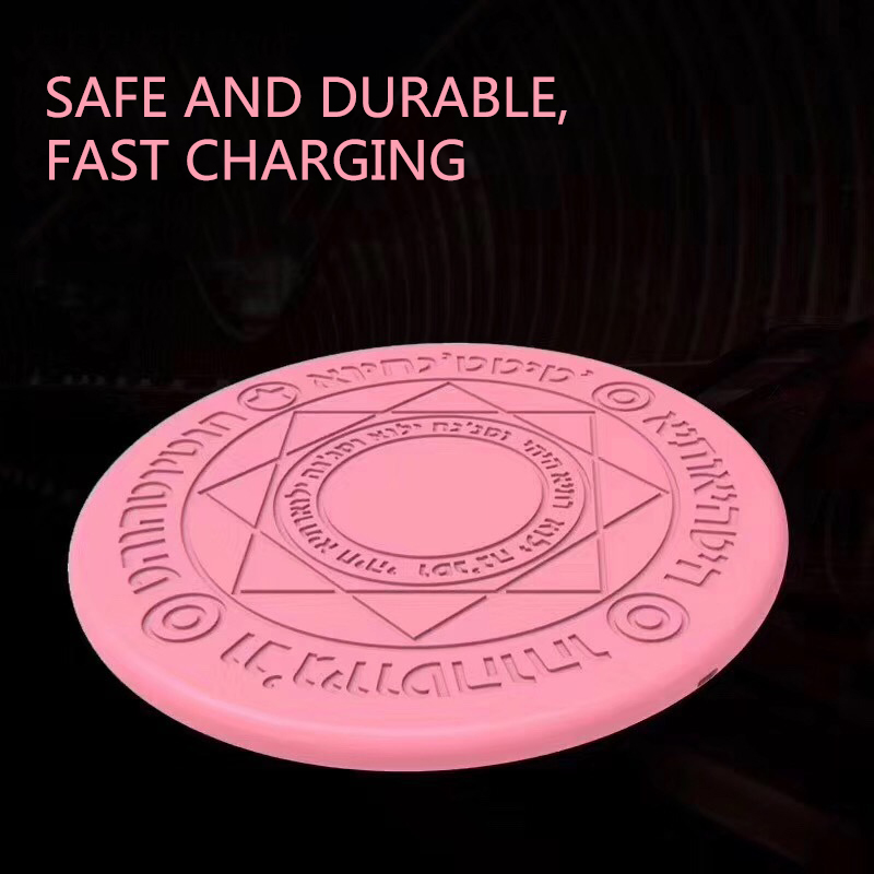 2019 Magic Circle Wireless Charger Qi Wireless Fast Quick Charging Pad for iPhone X XS 8 Samsung Xiaomi Redmi Huawei Honor in Mobile Phone Chargers from Cellphones Telecommunications