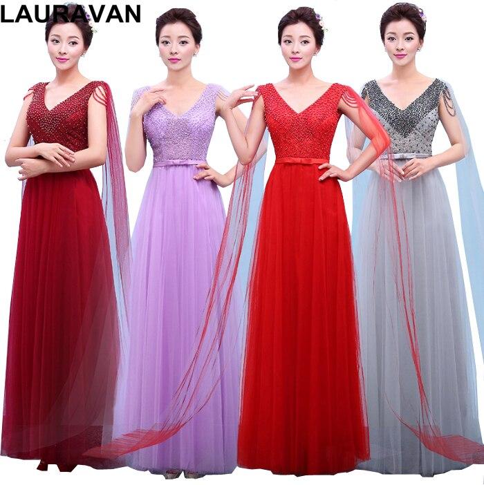 Woman Modest V Neck Bridesmaid Women's Bridesmaids Floor Length Size 8 Long Dress Bridemaid Dresses For Event Ball Gown
