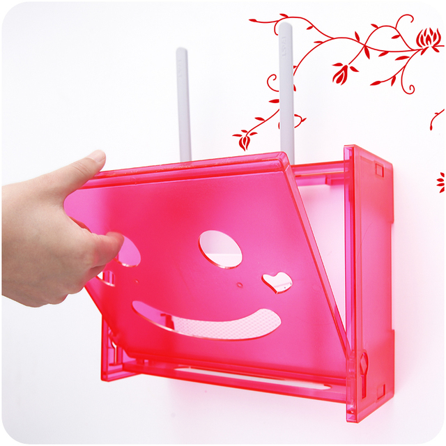Perforation free wireless router box living room wall hanging TV set ...